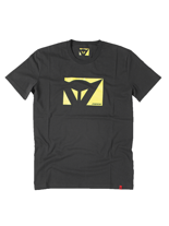 Dainese T-SHIRT COLOR NEW (NERO/GIALLO-FLUO)