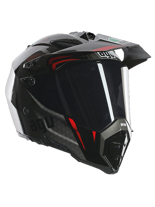 Kask AGV AX-8 DUAL EVO / GT BLACK/SILVER/RED