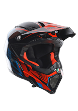 Kask AGV AX-8 EVO / CARBOTECH ORANGE/BLUE