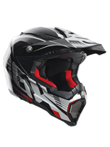 Kask AGV AX-8 EVO / CARBOTECH WHITE/RED