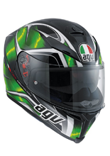 Kask AGV K-5 / HURRICANE BLACK/GREEN/WHITE