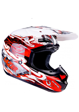 Kask Lazer X7 Skelter / White - Red - Grey