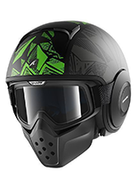 Kask SHARK RAW DANTE Mat Black green