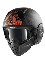Kask SHARK RAW DANTE Mat Black orange