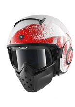 Kask SHARK RAW OUTCAST White Red Silver