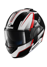 Kask Shark EVO-ONE ASTOR Black white red