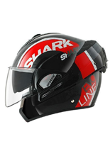 Kask Shark EVOLINE 3 DROP Black red white
