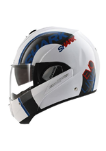 Kask Shark EVOLINE 3 DROP White Blue Red