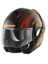 Kask Shark EVOLINE 3 MEZCAL CHROME Black Chrom Orange