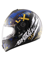 Kask Shark S600 PINLOCK PLAY Black Yellow Blue