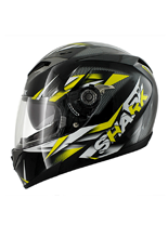 Kask Shark S700 PINLOCK NASTY Black yellow white