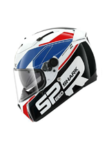 Kask Shark SPEED-R 2 SAUER White Blue Red