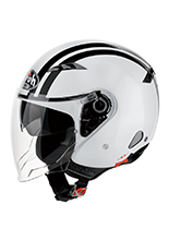 Kask otwarty Airoh City One Flash White