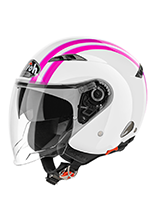 Kask otwarty Airoh City One Style Pink