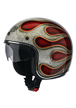Kask otwarty Airoh Riot Flame
