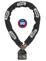 Łańcuch z zamkiem Abus GRANIT Power Chain 37 14KS Black Loop